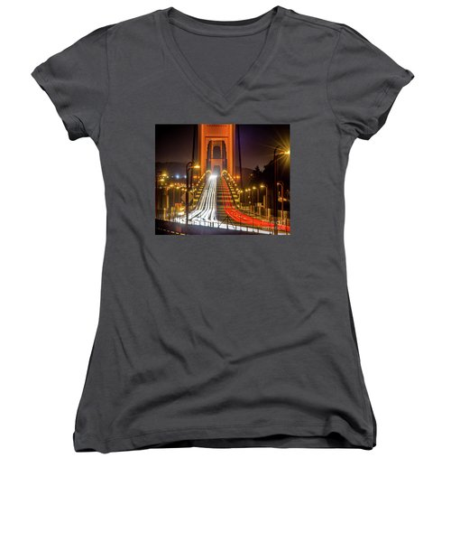 Golden Gate Traffic Women's V-Neck (Athletic Fit)