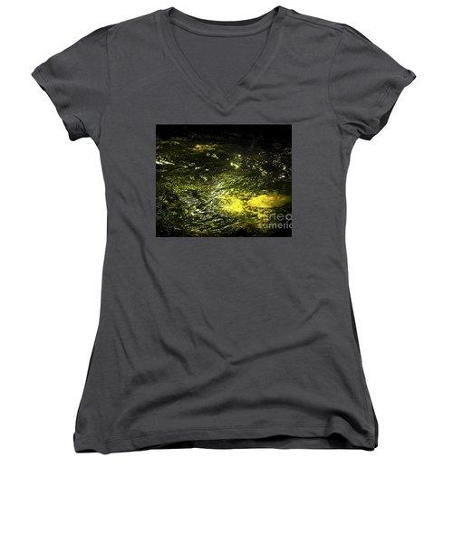 Women's V-Neck T-Shirt (Junior Cut) featuring the photograph Golden Glow by Tatsuya Atarashi