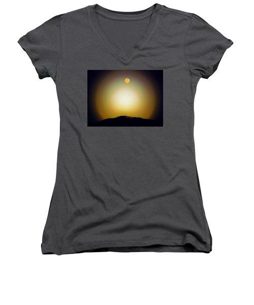 Golden Moon Women's V-Neck T-Shirt