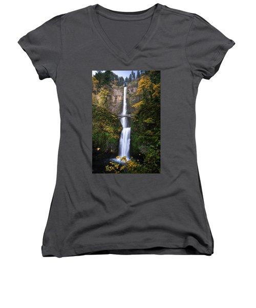 Golden Multnomah Women's V-Neck T-Shirt (Junior Cut)