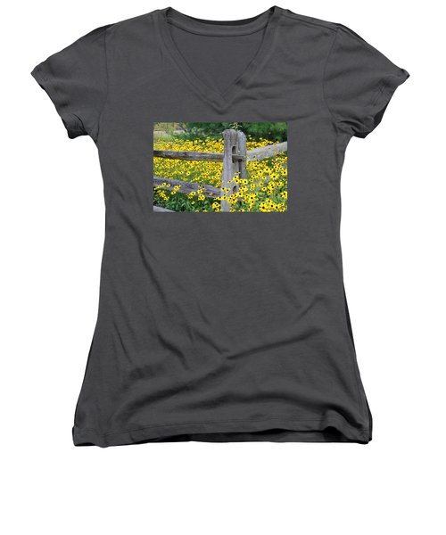 Golden-rod  Crowd Out Women's V-Neck (Athletic Fit)