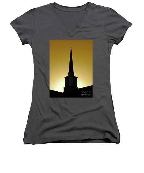 Golden Sky Steeple Women's V-Neck T-Shirt