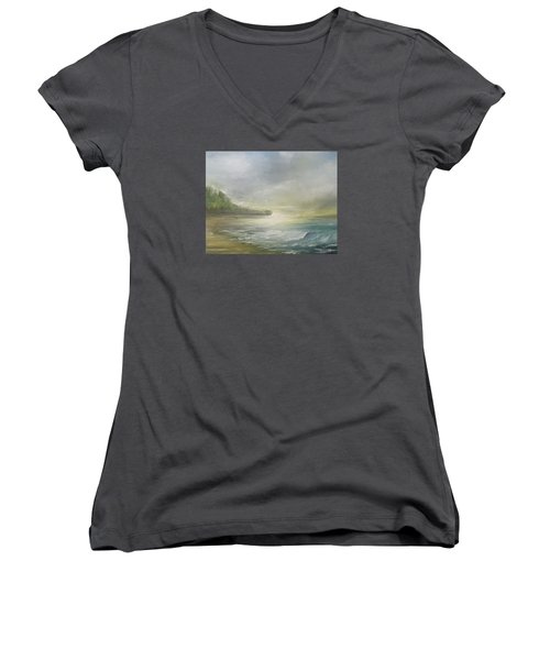 Golden Sunset Women's V-Neck T-Shirt