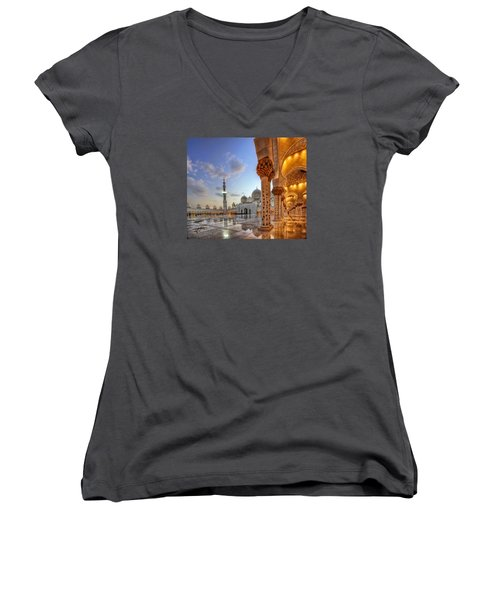 Golden Temple Women's V-Neck T-Shirt