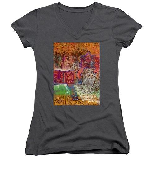 Golden Truth Women's V-Neck T-Shirt (Junior Cut) by Angela L Walker