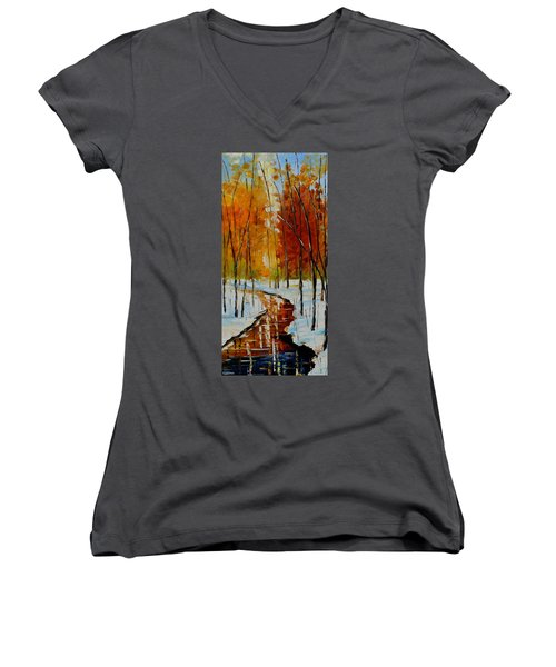 Golden Winter Women's V-Neck