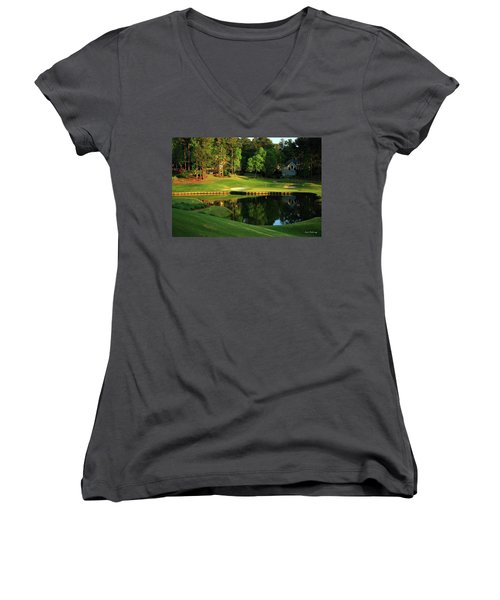 Golf The Landing #3 Reynolds Plantation Lake Oconee Ga Art Women's V-Neck