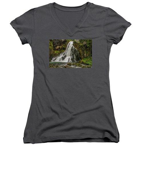 Golling Falls Women's V-Neck T-Shirt