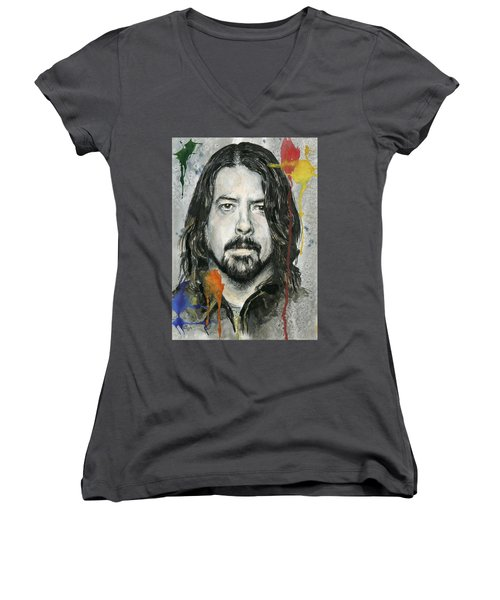 Good Dave Women's V-Neck T-Shirt (Junior Cut) by Nate Michaels