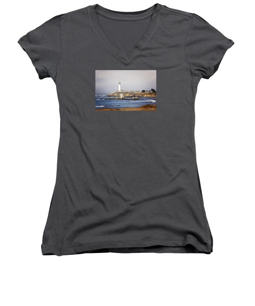 Good Morning Pigeon Point Women's V-Neck (Athletic Fit)