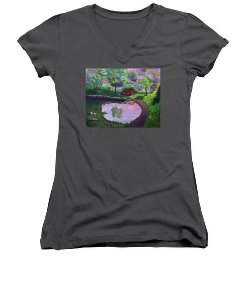 Good Spring Morning Women's V-Neck T-Shirt