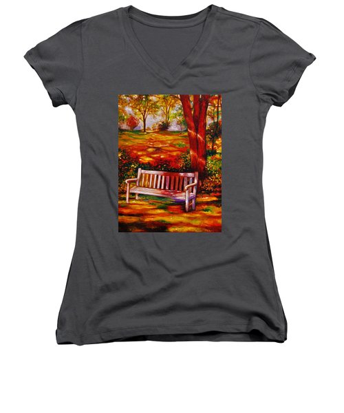 The Good Days Women's V-Neck T-Shirt (Junior Cut) by Emery Franklin