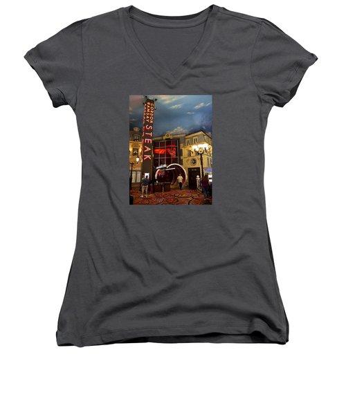 Gordon Ramsay Steak Women's V-Neck T-Shirt (Junior Cut)