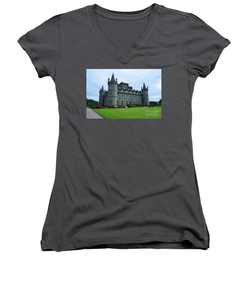 Gorgeous View Of Inveraray Castle Women's V-Neck (Athletic Fit)