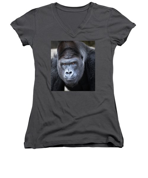 Gorrilla  Women's V-Neck (Athletic Fit)