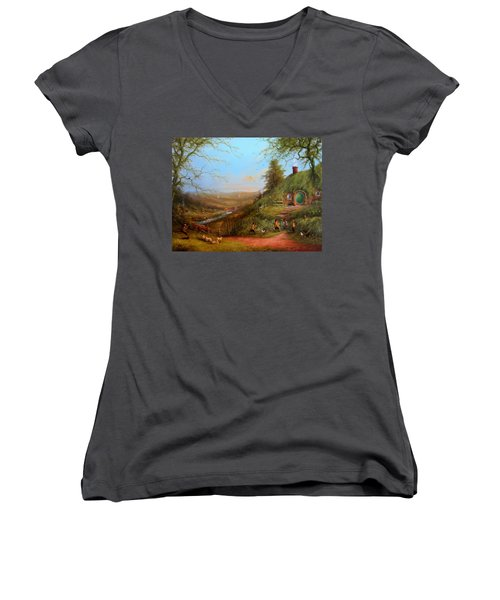 Gossip At The Gate Women's V-Neck (Athletic Fit)