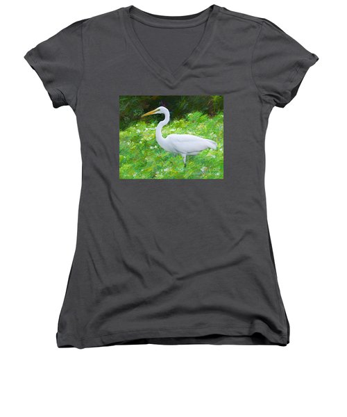 Grace In Nature Women's V-Neck T-Shirt (Junior Cut) by Judy Kay