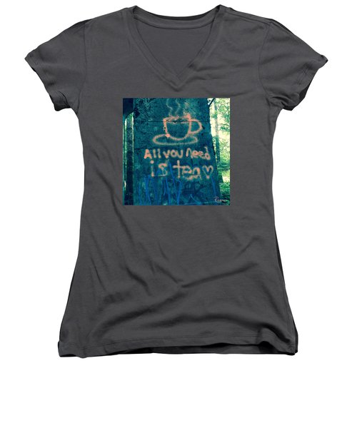 Graffitea Time Women's V-Neck