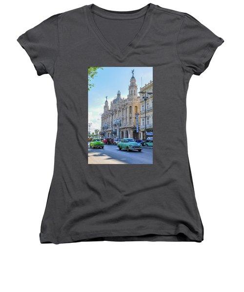 Gran Teatro De La Habana Women's V-Neck T-Shirt