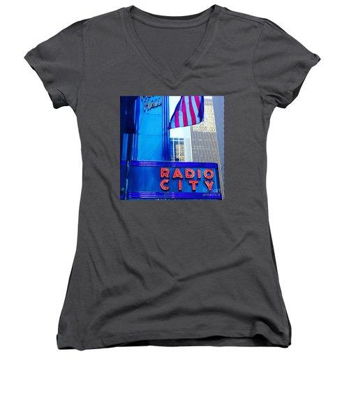 Grand  Women's V-Neck T-Shirt (Junior Cut) by Beth Saffer