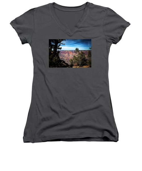 Grand Canyon, Arizona Usa Women's V-Neck T-Shirt (Junior Cut) by James Bethanis