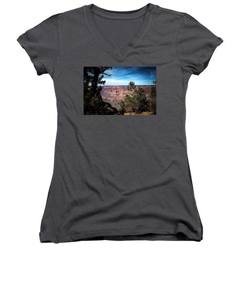 Grand Canyon, Arizona Usa Women's V-Neck (Athletic Fit)