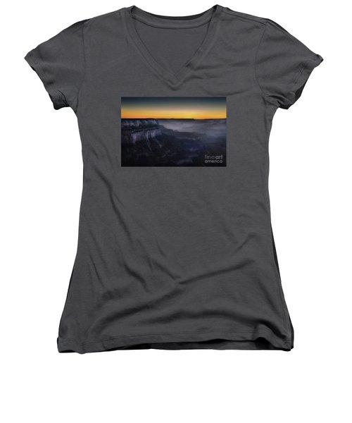 Grand Canyon At Twilight Women's V-Neck T-Shirt (Junior Cut) by RicardMN Photography