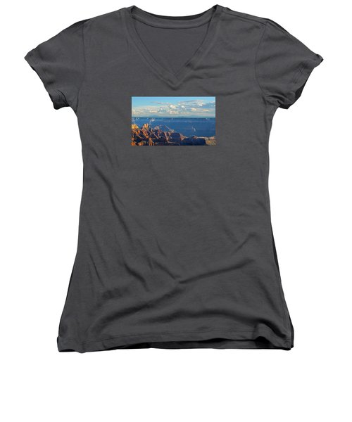 Grand Canyon North Rim Sunset San Francisco Peaks Women's V-Neck