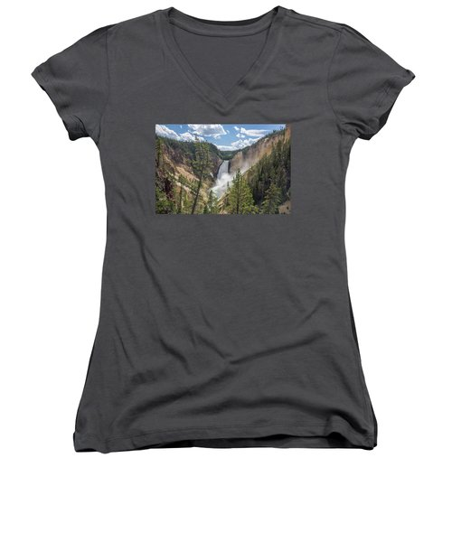Grand Canyon Of Yellowstone Women's V-Neck T-Shirt