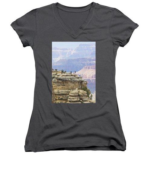 Women's V-Neck T-Shirt (Junior Cut) featuring the photograph Grand Canyon Vista by Chris Dutton