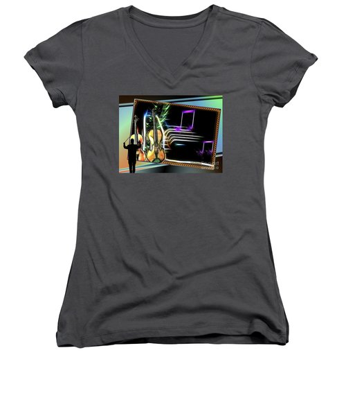 Grand Musicology Women's V-Neck