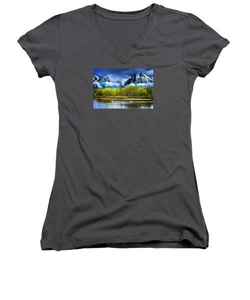 Grand Teton National Park Women's V-Neck T-Shirt