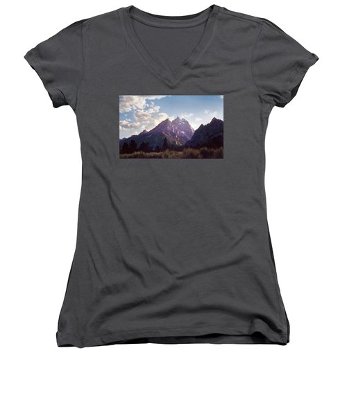 Grand Teton Women's V-Neck T-Shirt