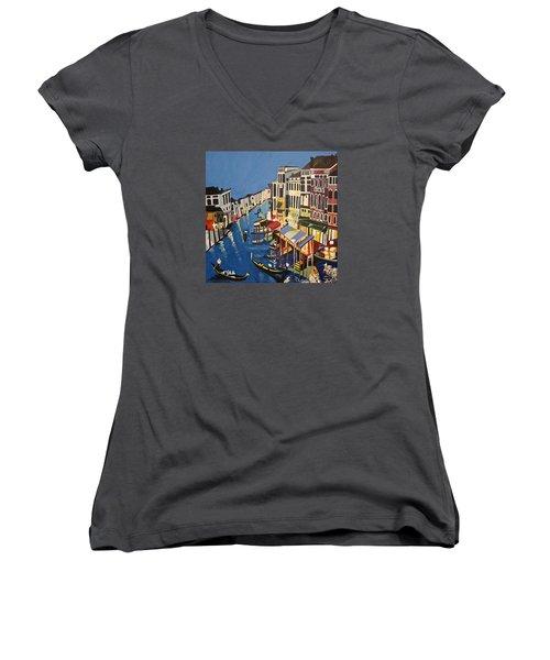 Grande Canal Women's V-Neck T-Shirt