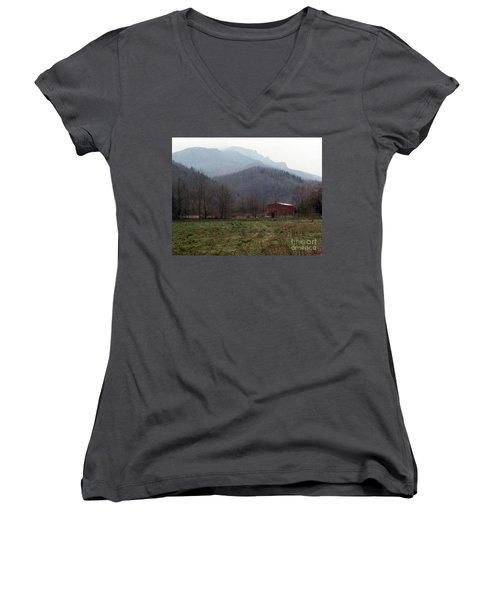 Grandfather Mountain Women's V-Neck T-Shirt