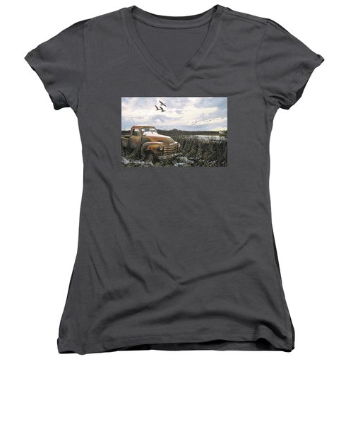 Grandpa's Old Truck Women's V-Neck