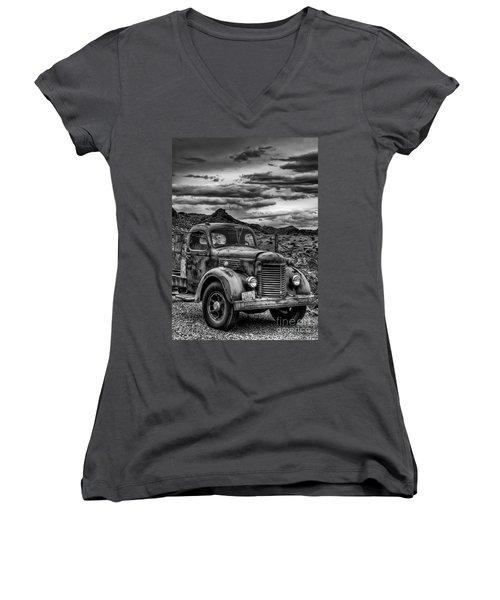 Grandpa's Ride Women's V-Neck T-Shirt