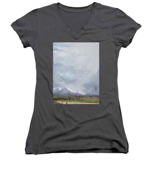 Grantsville Skies Women's V-Neck (Athletic Fit)