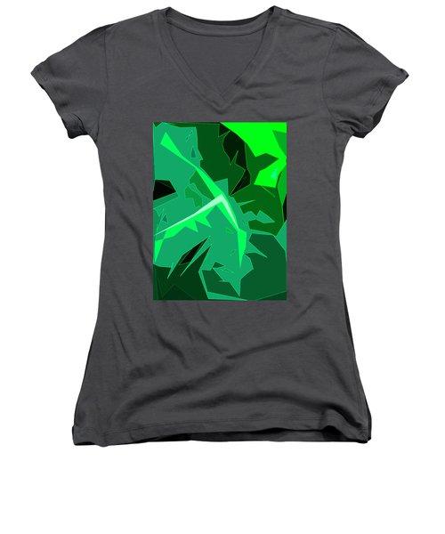 Grape Leaves Women's V-Neck T-Shirt