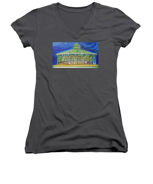 Grasping The Memories Women's V-Neck T-Shirt (Junior Cut) by Patricia Arroyo