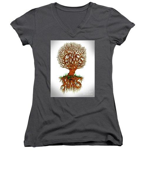 Grass Roots Women's V-Neck T-Shirt