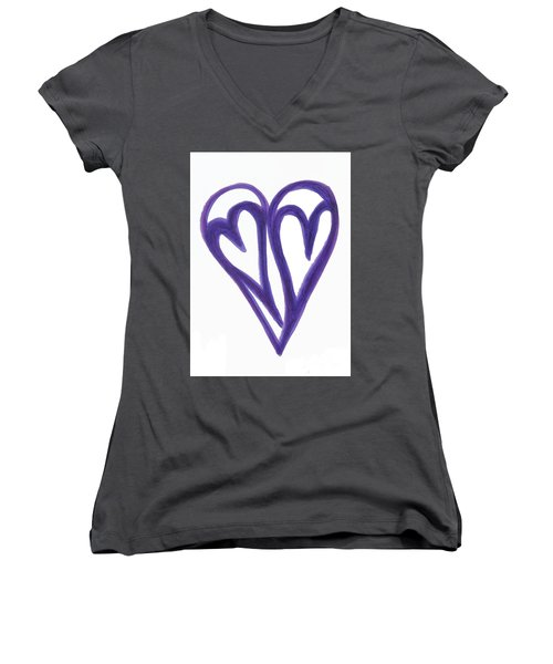 Grateful Heart Thoughtful Heart Women's V-Neck (Athletic Fit)