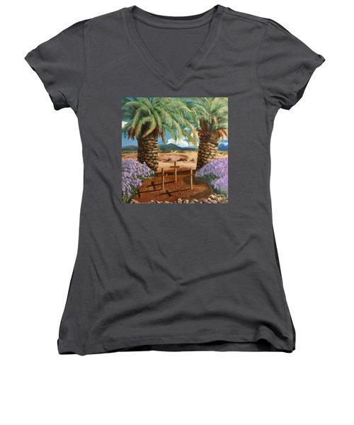 Gratitude Reminder  Women's V-Neck T-Shirt