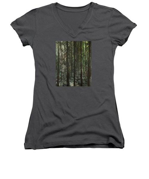 Grave Matters Women's V-Neck T-Shirt (Junior Cut) by Lisa Aerts