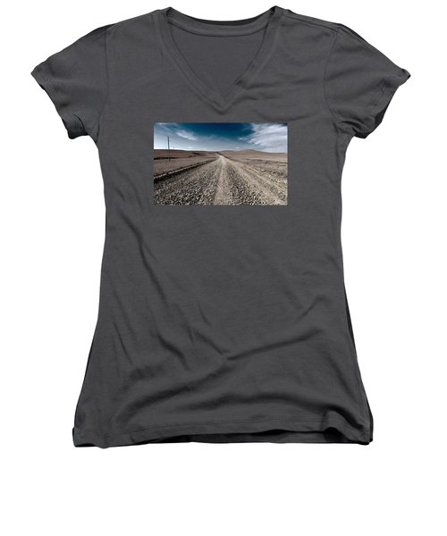 Gravel Dreams Women's V-Neck T-Shirt