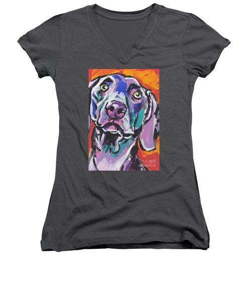 Gray Ghost Women's V-Neck T-Shirt