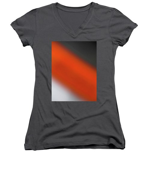 Gray Orange Grey Women's V-Neck T-Shirt