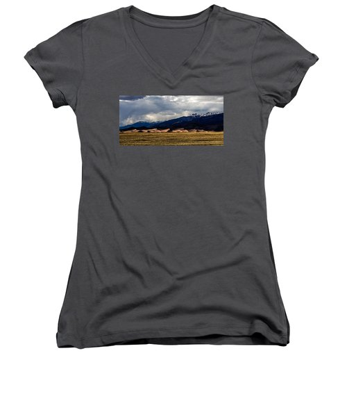 Great Sand Dunes Panorama Women's V-Neck