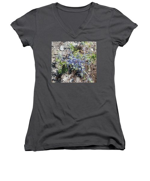 Greek Spiky Plant Women's V-Neck