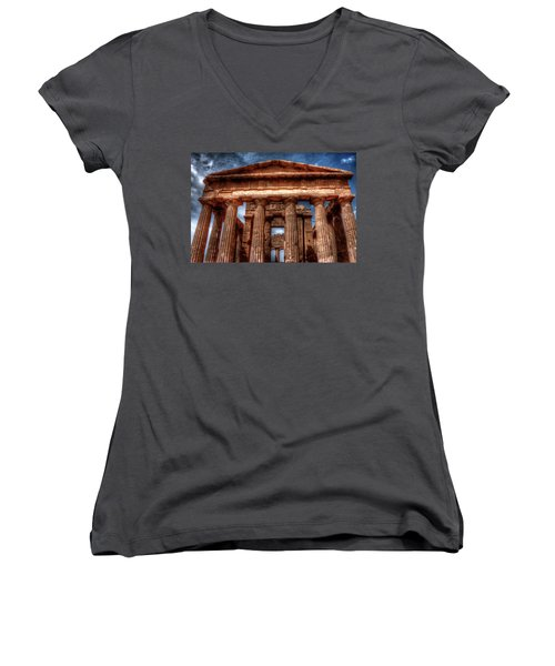 Temple Of Concord  Women's V-Neck (Athletic Fit)